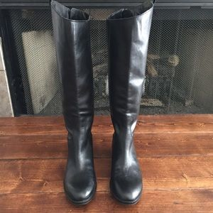Sam Edelman Penny 2 Black Leather Riding Boots